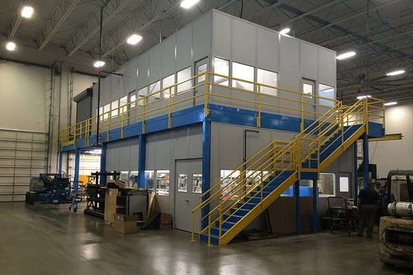 Office on mezzanine floor from elev8